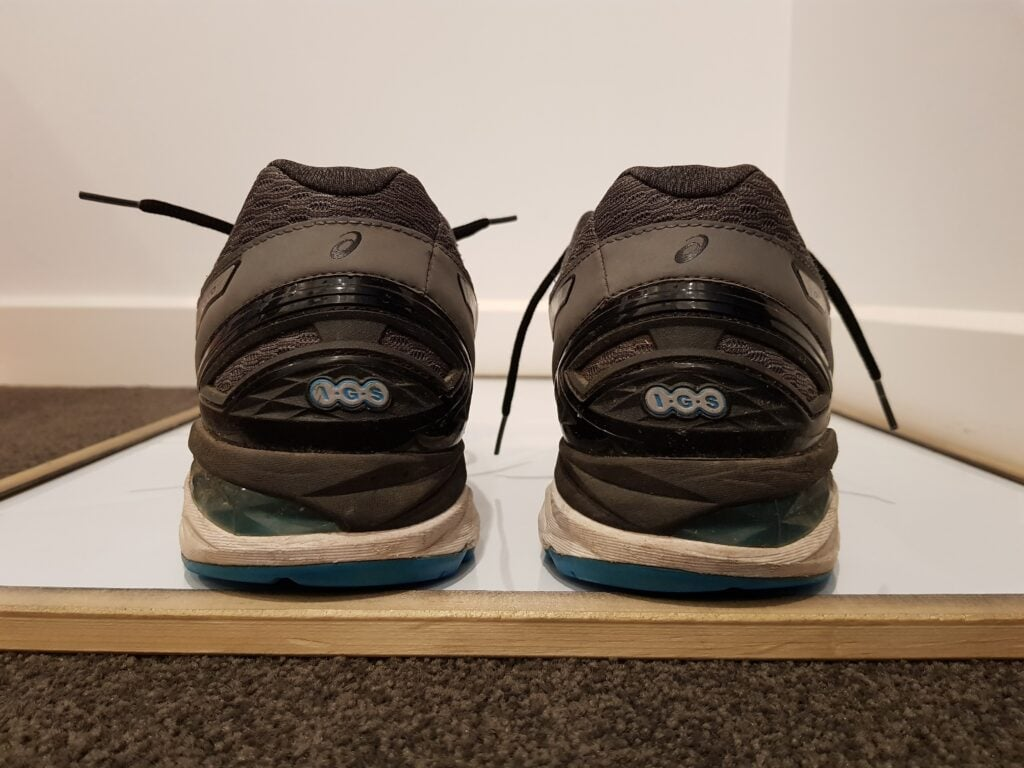 Running shoe alignment test