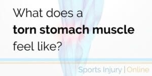 pulled stomach muscle