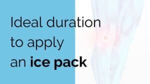 Ideal duration to apply an ice pack