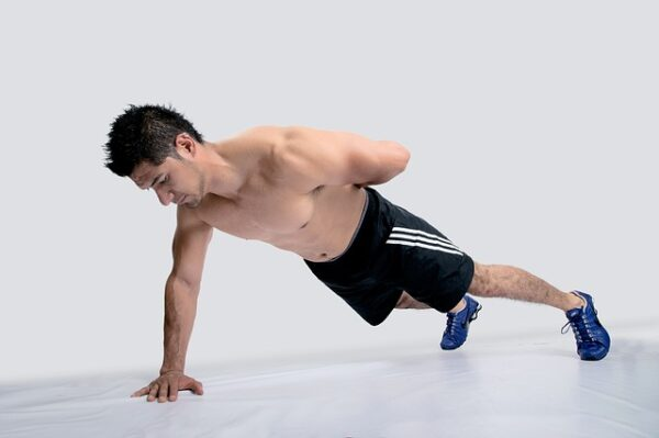 one arm plank for oblique muscle injury